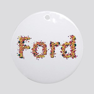 Ford Fiesta Round Ornament