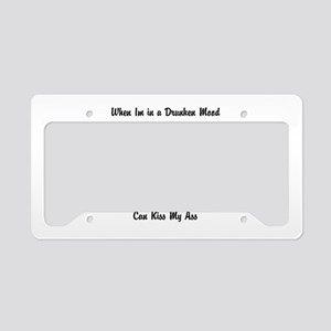 Dying words License Plate Holder