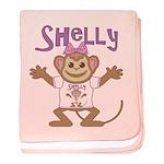 Little Monkey Shelly baby blanket