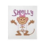 Little Monkey Shelly Throw Blanket