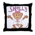 Little Monkey Shelly Throw Pillow