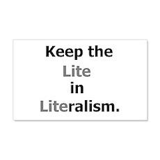Lite in Literalism 22x14 Wall Peel