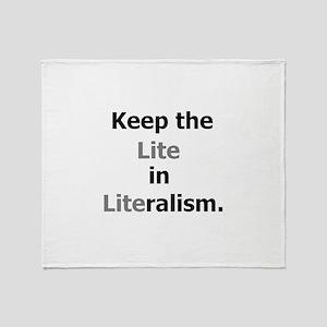 Lite in Literalism Throw Blanket