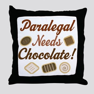Paralegal Gift Funny Throw Pillow