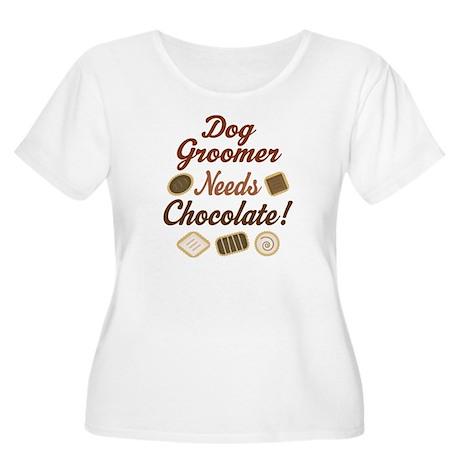Dog Groomer Gift Funny Women's Plus Size Scoop Nec