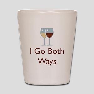 I Go Both Ways Shot Glass