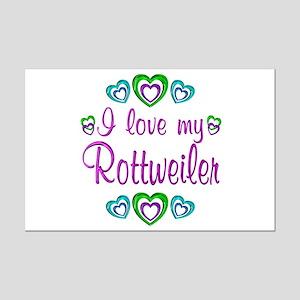 Love My Rottweiler Mini Poster Print