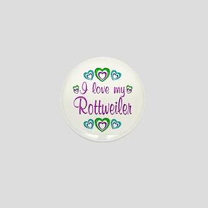 Love My Rottweiler Mini Button