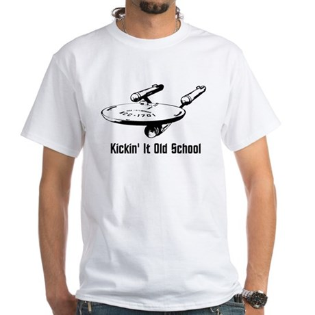 Old School Trek White T-Shirt