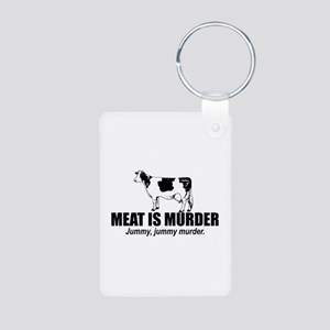Meat is murder Aluminum Photo Keychain