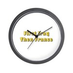 Then France Wall Clock