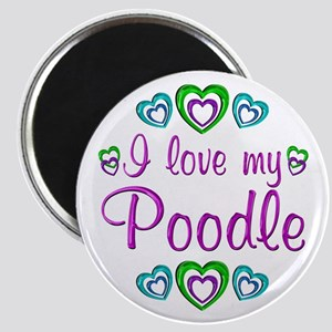 Love My Poodle Magnet