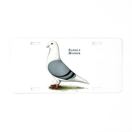 Blue Saddle Homer Aluminum License Plate