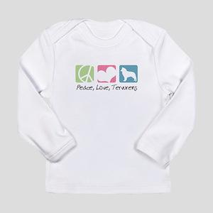 Peace, Love, Tervurens Long Sleeve Infant T-Shirt