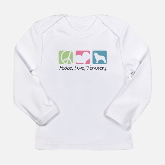 Peace, Love, Tervurens Long Sleeve Infant T-Shirt