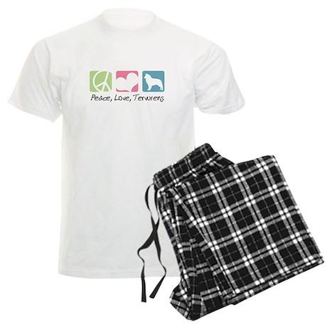 Peace, Love, Tervurens Men's Light Pajamas