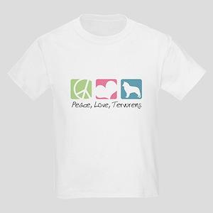 Peace, Love, Tervurens Kids Light T-Shirt