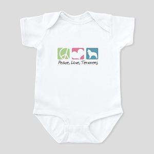 Peace, Love, Tervurens Infant Bodysuit