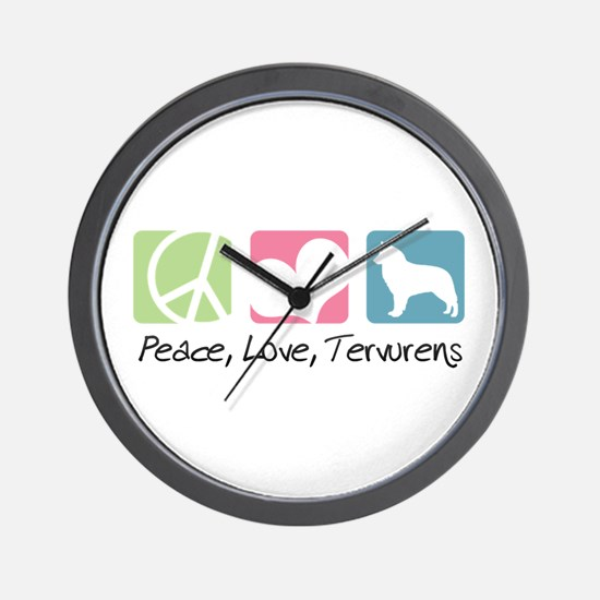 Peace, Love, Tervurens Wall Clock
