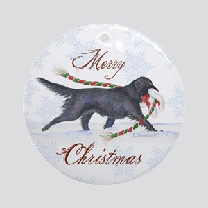 Flat-coated Retriever Ornament (Round)