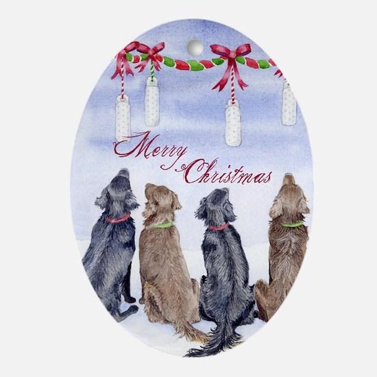 Flat-coated Retriever Dreams Christmas Ornament