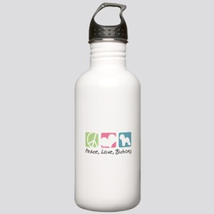 Peace, Love, Bichons Stainless Water Bottle 1.0L