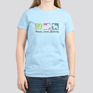 Peace, Love, Bichons Women's Light T-Shirt
