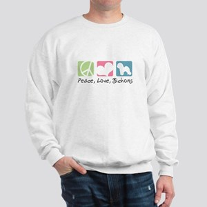 Peace, Love, Bichons Sweatshirt