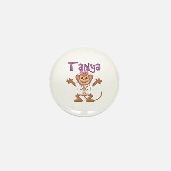 Little Monkey Tanya Mini Button