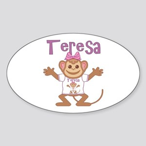 Little Monkey Teresa Sticker (Oval)