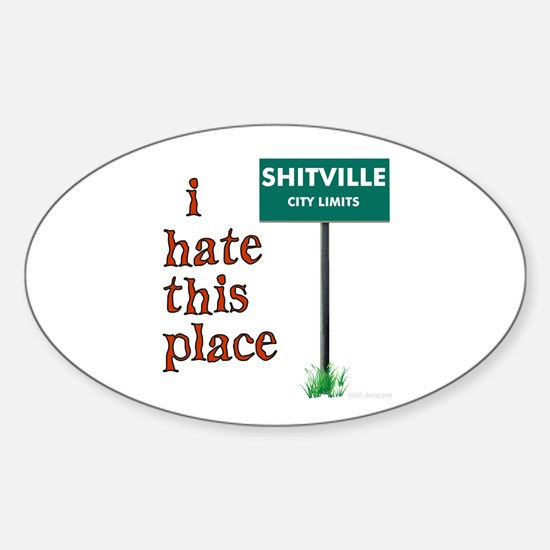 Shitville Oval Decal