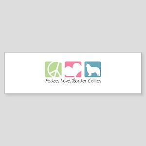 Peace, Love, Border Collies Sticker (Bumper)