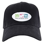 Peace, Love, Border Terriers Black Cap