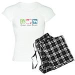 Peace, Love, Borzoi Women's Light Pajamas