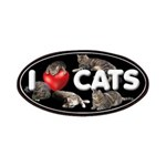 """Patches """"I Love Cats"""""""