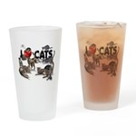 """Drinking Glass """"I Love Cats"""""""