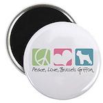 Peace, Love, Brussels Griffon Magnet