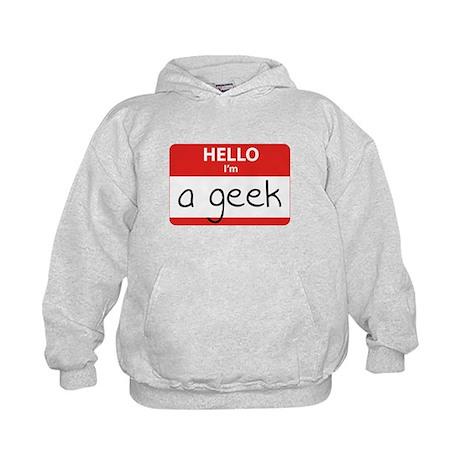 Hello, I'm a Geek Kids Hoodie