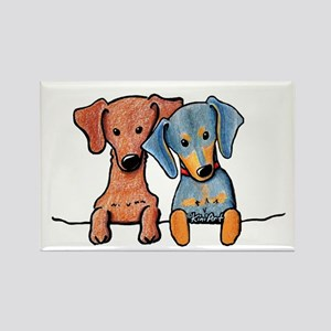 Pocket Doxie Duo Rectangle Magnet (10 pack)