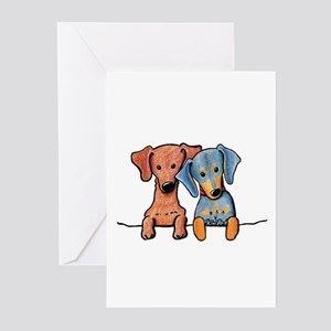 Pocket Doxie Duo Greeting Cards (Pk of 10)