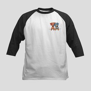 Pocket Doxie Duo Kids Baseball Jersey
