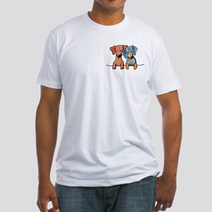 Pocket Doxie Duo Fitted T-Shirt