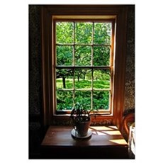 Colonial Cottage Window Poster