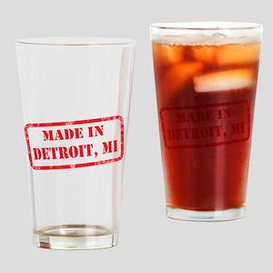 MADE IN DETROIT, MI Drinking Glass
