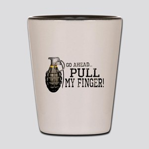 Pull My Finger Shot Glass