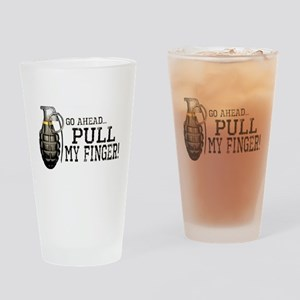 Pull My Finger Drinking Glass