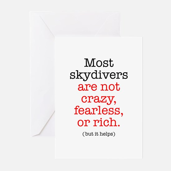 Skydivers not Crazy Greeting Cards (Pk of 20)