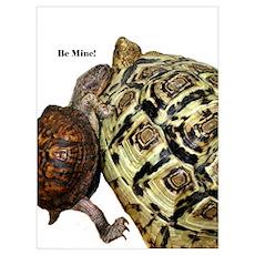 Be Mine! Box & Leopard Poster
