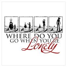 Where do you go? Poster