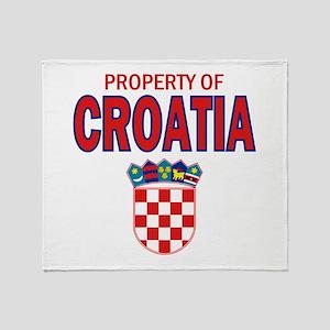 Property of Croatia Throw Blanket